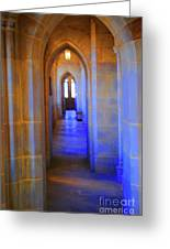 Gothic Arch Hall Greeting Card