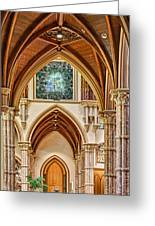 Gothic Arches - Holy Name Cathedral - Chicago Greeting Card