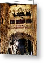 Gothic Bridge At Night In Barcelona 2 Greeting Card