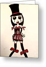 Gothic Burlesque Girl Greeting Card