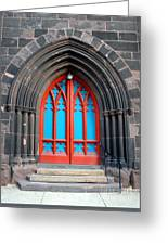 Gothic Church Door Greeting Card