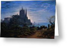 Gothic Church On A Rock Greeting Card