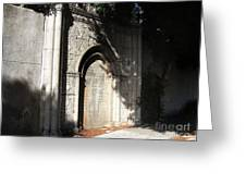 Gothic Darkness. Old Gate Greeting Card