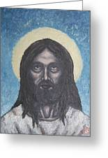Gothic Jesus Greeting Card