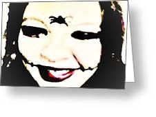 Gothic Joker Greeting Card