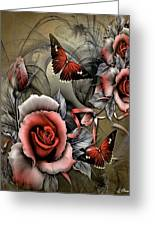 Gothic Roses Greeting Card