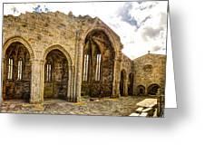 Gothic Temple Ruins - San Domingos Greeting Card