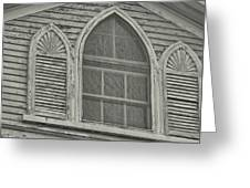 Nantucket Gothic Window  Greeting Card