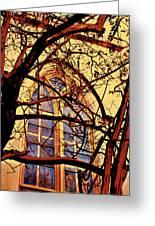 Gothic Window Greeting Card by Jill Tennison