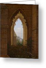Gothic Windows In The Ruins Of The Monastery At Oybin Greeting Card