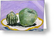 Gourd And Green Apple On Haviland Greeting Card