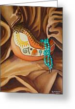 Gourd With Turquoise Greeting Card