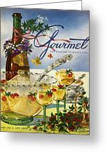 Gourmet Cover Featuring A Bowl And Glasses Greeting Card