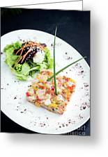 Gourmet Raw Tuna Tartare Ceviche With Mango Lime And Chilli Greeting Card
