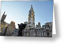 Government Of The People And City Hall Philadelphia Greeting Card