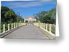 Governor Mansion In Battambang Cambodia Greeting Card