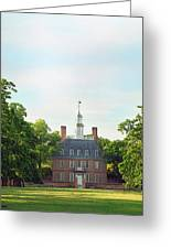 Governor Palace - Williamsburg Greeting Card