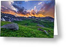 Governor's Basin Sunset Greeting Card