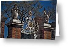 Governor's Palace Gate Detail Greeting Card