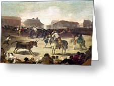 Goya: Bullfight, 1793 Greeting Card