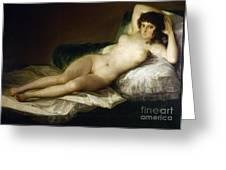 Goya: Nude Maja, C1797 Greeting Card