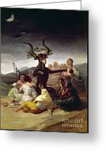 Goya: Witches Sabbath Greeting Card
