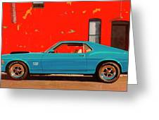 Grabber Blue Boss Greeting Card