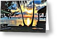 Grabbers Sunset Greeting Card