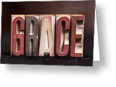 Grace - Antique Letterpress Letters Greeting Card