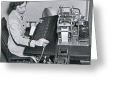 Grace Hopper, American Computer Scientist Greeting Card