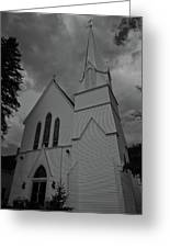 Grace In Black And White Greeting Card