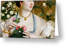 Grace Rose Greeting Card by Anthony Frederick Augustus Sandys
