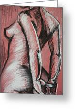 Graceful Pink - Nudes Gallery Greeting Card by Carmen Tyrrell