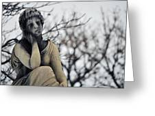 Graceland Cemetery Woman Greeting Card
