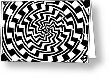 Gradient Tunnel Spin Maze Greeting Card