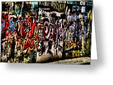 Graffiti 3 Greeting Card