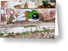 Graffiti Art Lencois Brazil Greeting Card