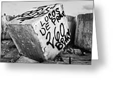 Graffiti Block Greeting Card
