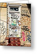 Graffiti Doorway New Orleans Greeting Card