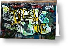 Graffiti Fort Armistead Baltimore Maryland Greeting Card