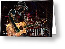 Graffiti Guitar Greeting Card