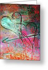 Graffiti Hearts Greeting Card by Anahi DeCanio