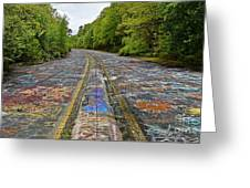 Graffiti Highway, Facing North Greeting Card