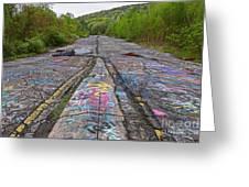 Graffiti Highway, Facing South Greeting Card