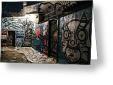 Graffiti In Plaka I Greeting Card by James Billings