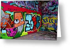 Graffiti London Style Greeting Card