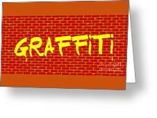 Graffiti Red Wall Greeting Card