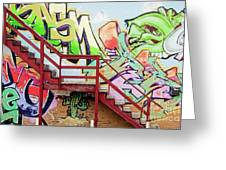 Graffiti Steps Greeting Card
