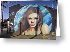 Graffiti Street Art Mural Around Melrose Avenue In Los Angeles, California  Greeting Card