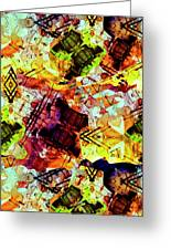 Graffiti Style - Markings On Colors Greeting Card